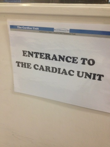 Enterance to Cardiac Unit